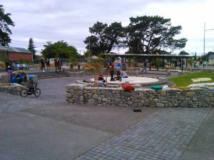 Photo of community arriving for the event Featherston First Friday December in the Town Square, Fitzherbert St, Featherston NZ