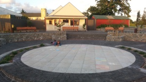 chalk art in the featherston town square