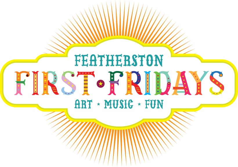 Featherston First Fridays logo white