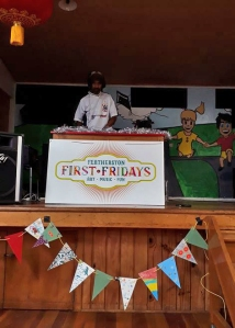 DJ So Dramatic on stage at Featherston First Friday