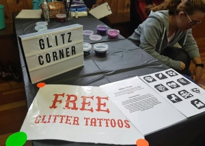Free glitter tattoos at Featherston First Friday