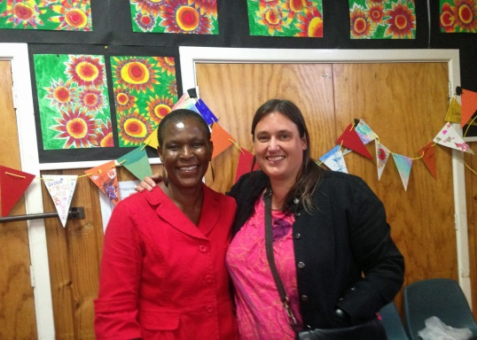 two community leaders at Featherston First Friday