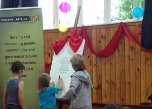 signing the pledge for DIA partnership in community led development