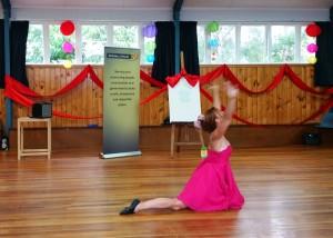 Justine Eldred dancing