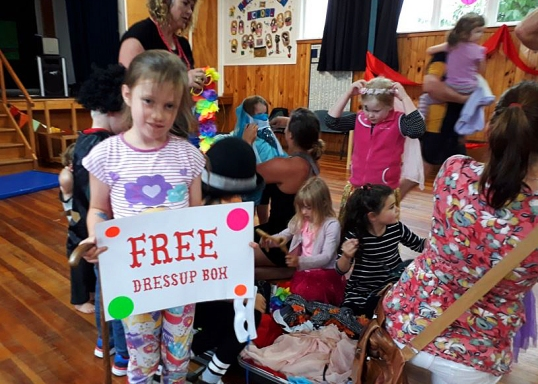 Free dressups at Featherston First Fridays